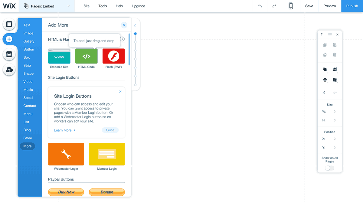 Embed a Sketchfab 3D model in Wix - Add HTML block